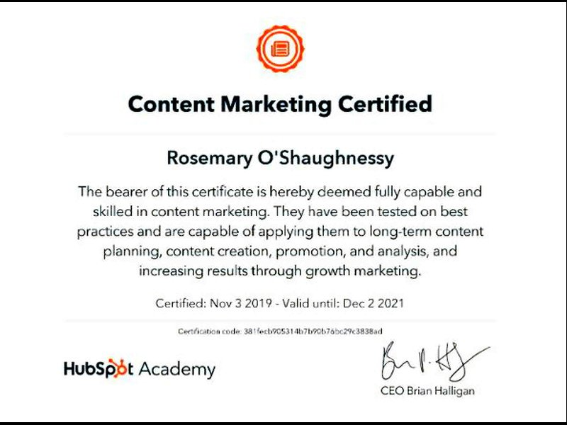 Your Virtual Assistant Online - My Certification-content marketing